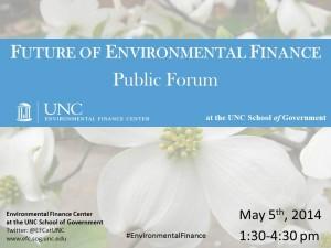 Future of Environmental Finance Public Forum