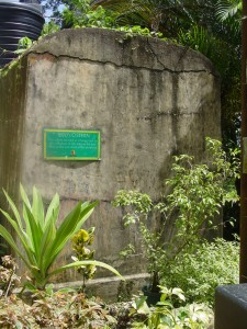 Cistern from 1980s, Grand Riviere, Trinidad (Photo by Stacey Isaac Berahzer)