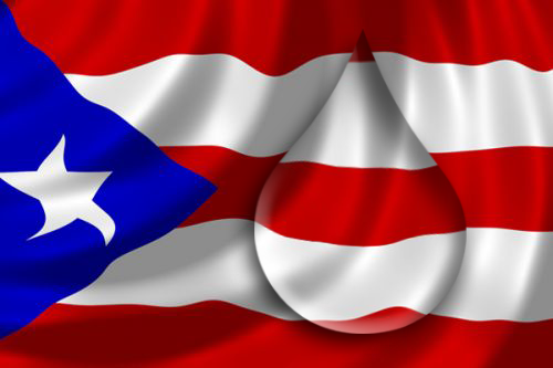puerto rico flag water drop